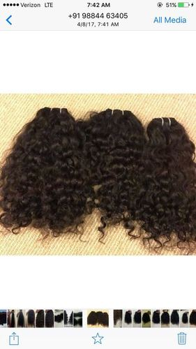 Curly Machine Weft Hairs
