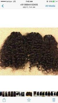 Curly Machine Weft Hairs