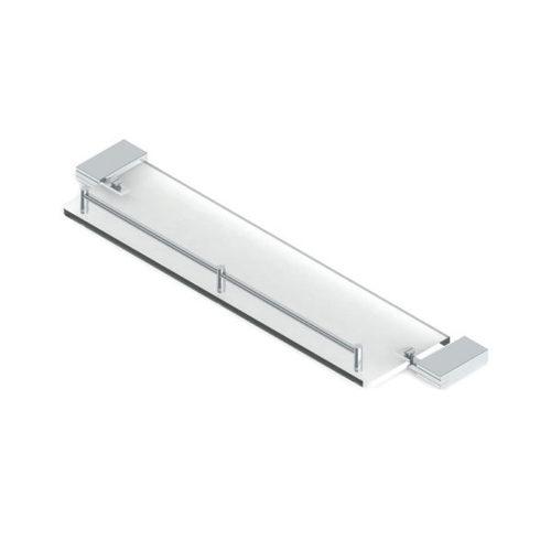 Glass Shelf with Rail-Rectangular (Side Brackets)