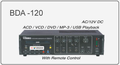 Professional PA DVD Player & Amplifiers