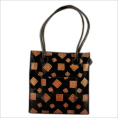 Printed Leather Ladies Bag