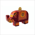 Leather Elephant Coin Bank