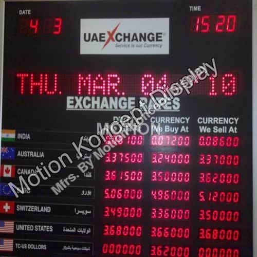 LED Currency Display Boards