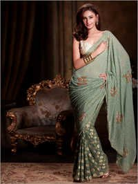 Zardosi Worked Saree