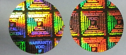 Holographic Warranty Stickers
