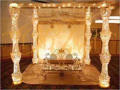 Gold Wedding Crystal Mandap