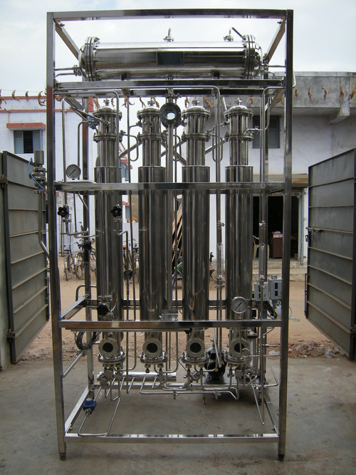 Multi column distilled water plant 80 lts