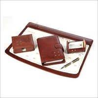 Leather deskset