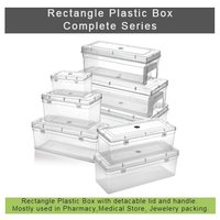 Rectangle Plastic Box With Handle