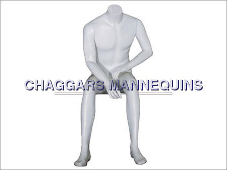 Headless Sitting Male Mannequins