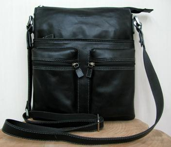 Leather mens bag