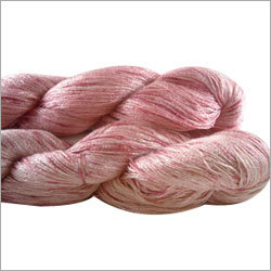 Dyed Raw Silk Yarn in Hanks
