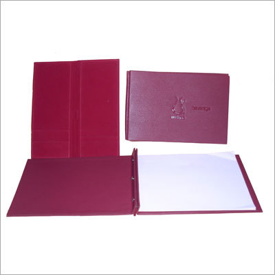 Hotel Menu Leather Folder