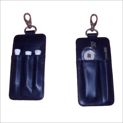 Leather Golf Studs-Holder Key Chain