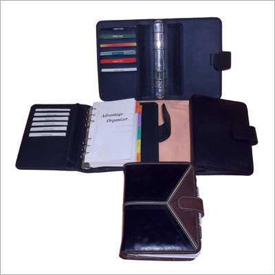 Leather Organiser Diary with Visiting Cards