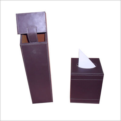 Leather Wine Boxes & Tissue Boxes