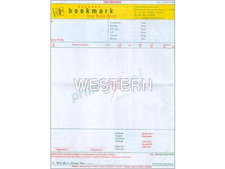 Tax Invoice Multi Colour