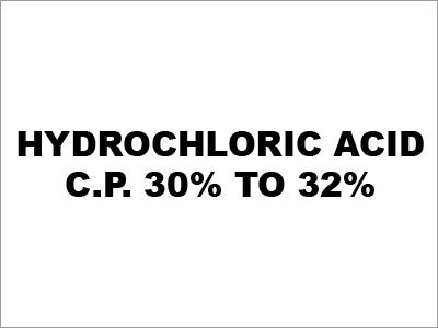 Hydrochloric Acid (C.P. 30% to 32%)