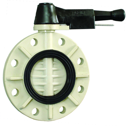 Pp Butterfly Valve Flange End