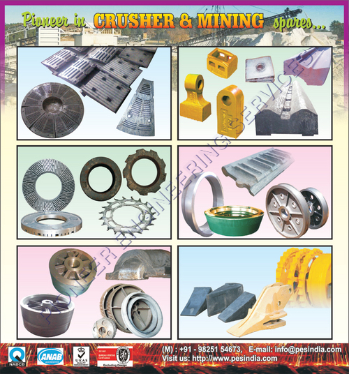 Grinding & Crusher Machine Cast Spares