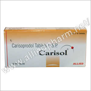 what does carisoprodol tablets do