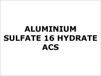Aluminium Sulfate 16 Hydrate ACS
