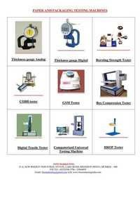 Paper/ corrugated Box/PackagingTesting Equipment