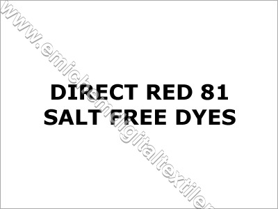 Direct Red 81 Salt Free Dyes