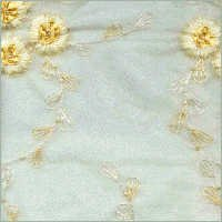 Organza With Embroidered Wool & Lace