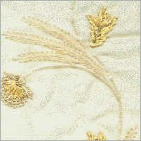 Silk Embroidery with Lace & Thread