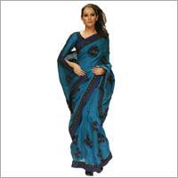Handloom Silk Saree With Embroidery