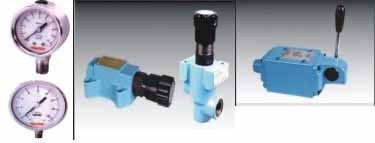 Pressure Gauge / Relief Valve / H Operated Valve