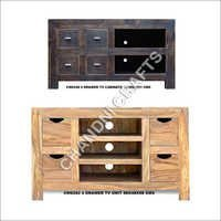 Wooden Drawer TV Cabinet
