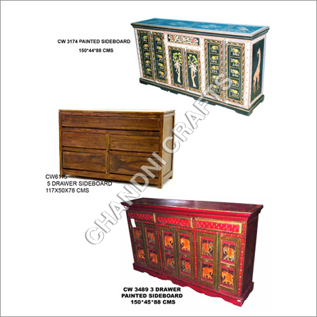 5 Drawer Wooden Side Boards