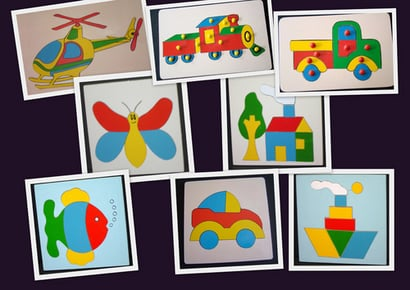 Multi Color Try Puzzles