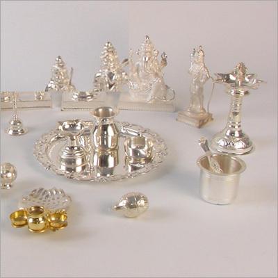 Silver Pooja Items Silver Pooja Items Exporter