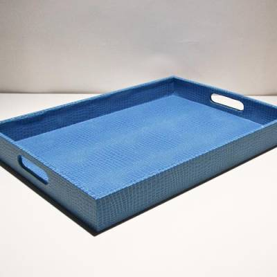 Leather Service Tray
