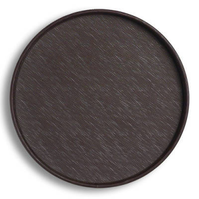 Leatherette Round Service Tray