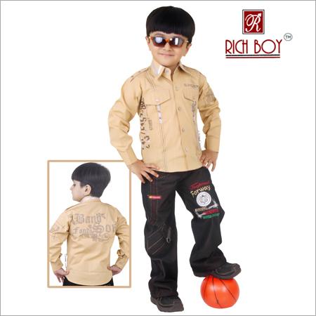 Boy's Casual, Cotton Full Suit