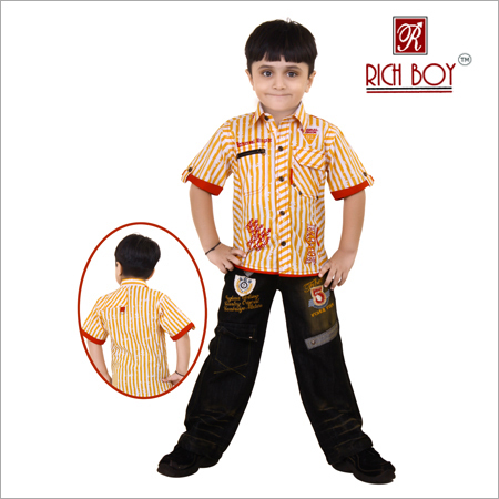 Boys Ccasual Cotton Full Suit