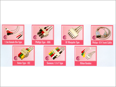 ECG Monitor Detachable Lead & Trunk Cable