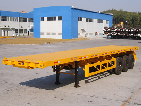 Flatbed Container Trailer Transportation