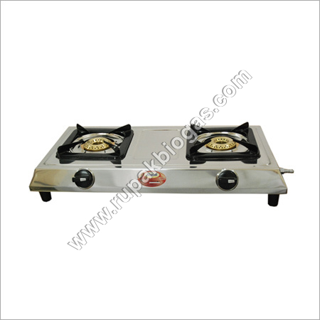 Biogas Double Burner S.S Stove
