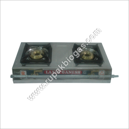 Biogas Butterfly Handle Double Burner