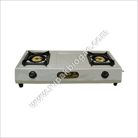 Biogas S.S Double Burner Stove