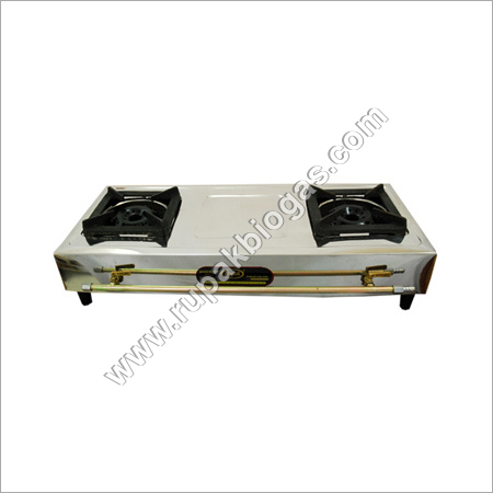 Biogas Double Burner Stove Royal Handle Type