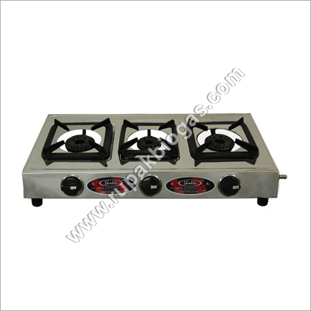 BIogas Stove Three Burner Long Knob Type