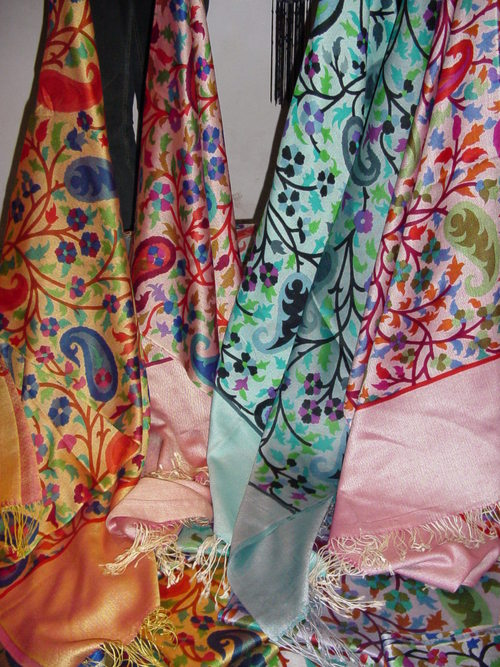 Silk Wool Screen Printed Stoles