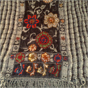 Wool Boiled Ari Embroidered Stole