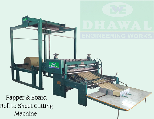 Simplex Board Roll to Sheet Cutting Machine
